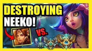 DESTROYING THE *NEW* CHAMPION NEEKO! || HOW TO SHUT DOWN A NEEKO AS LEONA!|| LEONA *ONLY* TO DIAMOND
