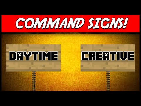 Minecraft | COMMAND SIGNS (Link a command to a sign!) | Plugin Tutorial
