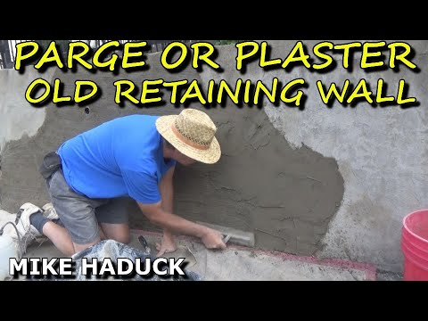 How I parge or plaster an old retaining wall. (Mike Haduck)