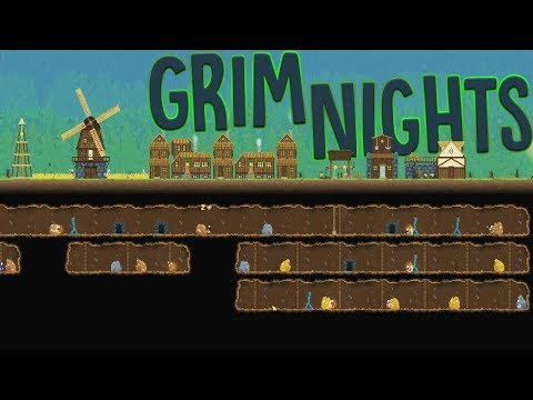 The Mighty Underground Mining Kingdom - Building A Zombie Fortress - Grim Nights Gameplay