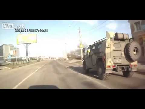 Russian Army in Crimea Ukraine Intense Situation