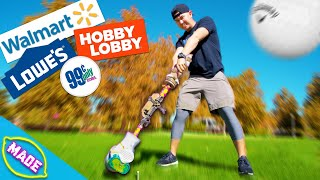 We Built Golf Clubs Using ONLY Grocery Store Items with Bobby from Team Edge!!