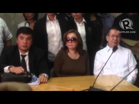 The former aide of ex-president Joseph Estrada, Ruby Tuason, appears before the Ombudsman to re-affirm her sworn statement. Her testimony will 'corroborate' ...