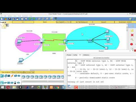 No IP Route in Cisco Packet Tracer