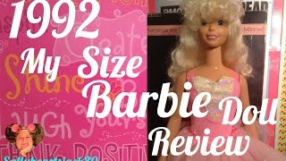 1992 My Size Barbie Doll Review✨