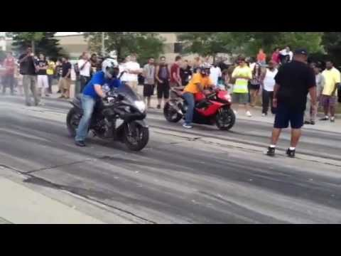 Bikes Vs Cars Street Race Motorcycle street racing