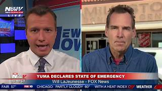 Fox News Channel Reporter William LaJeunesse Live in Yuma, Arizona