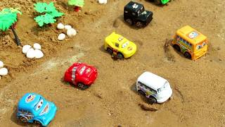 Learn Colors With Car for Kids   Surprise Sand Water Cars Toys for  Children