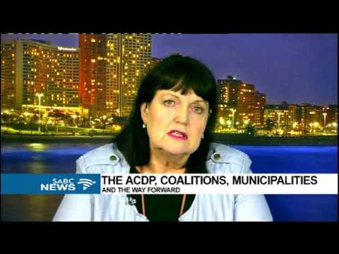 ACDP coalitions, municipalities and the way forward: Joanne Downs