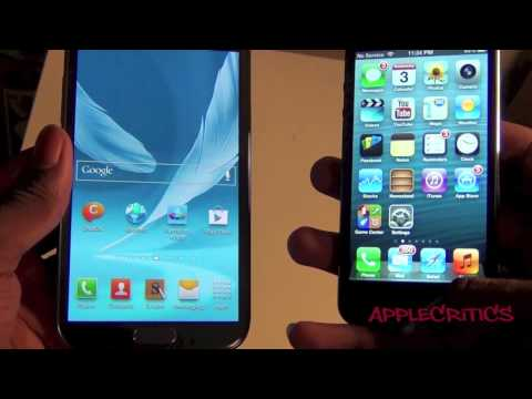 Samsung Galaxy Note 2 Vs. iPhone 5! Battle Of The...