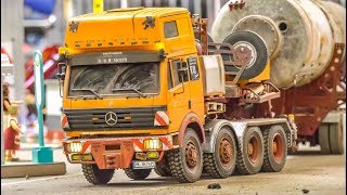 STUNNING detailed old RC Heavy Load Truck works hard!
