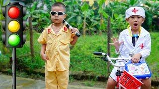 Trò Chơi Công An Và Bác Sĩ Cứu Bênh Nhân - Bé Nhím TV - Đồ Chơi Trẻ Em Thiếu Nhi