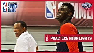 Gentry Tries to Swat Zion at the Pelicans' 1st Summer League Practice | Summer League Highlights
