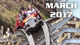 Dollywood March 2017 Park Footage (with Lightning Rod!)