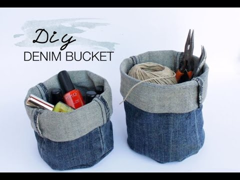 Diy Upcycled Diy Upcycled Denim Bucket