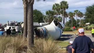 Driver of cement truck extricated after crash in roundabout at Brownwood