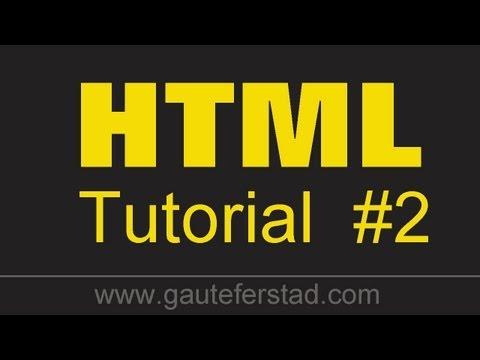 HTML Tutorial 02 Basic Tags #1