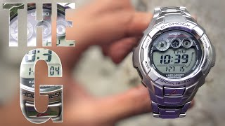 Vintage steel G-Shock G-7100D-1JF THE G watch review | 10 years battery life
