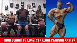 The Mountain Deadlifts 1 042lbs Keone Pearson Natty Larry Wheels Special Invite More