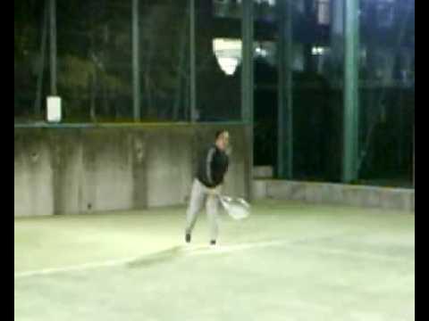 テニス・ダブルス練習風景01