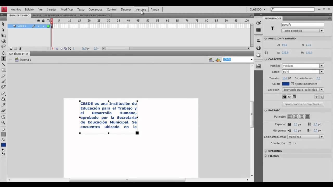 Tutorial cuadro de texto con scroll en flash cs4 youtube - Cuadros para bares ...