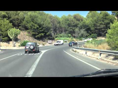 A short drive between Altea and Calp in Spain