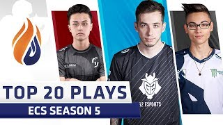 Top 20 Plays of ECS Season 5 - Feat. kennyS, Twistzz, Stewie2k!