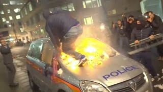 """Horses Attacked-""""Tory scum!"""" Million Man March descends into violence, London"""