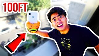 Can SQUISHY TOYS Protect iPHONE X From 100 FT DROP!