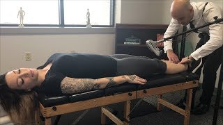 Perfect FIRST TIME Adjustment ~ LOUD Full Body Chiropractic Adjustment w/ Microphone.
