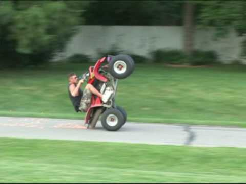 Honda 4 Wheeler Stoppies And Wheelies With Super Skilled