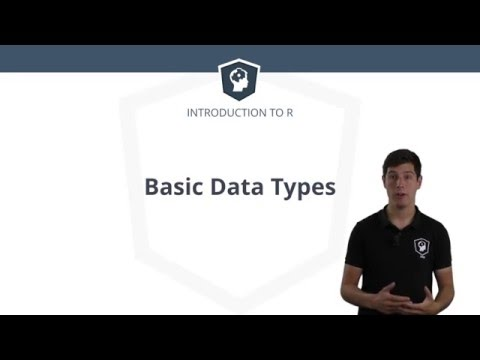R tutorial: The basic data types in R
