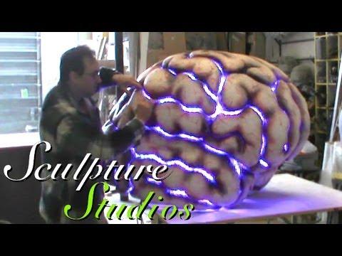 Polystyrene Styrofoam Brain by Sculpture Studios