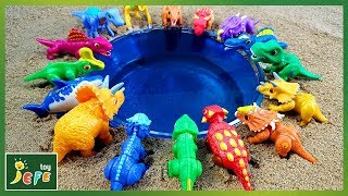 Funny Diving Water Slide Play Dinosaur Toy - Dino Mecard Toys │ 제페토이 JefeToy