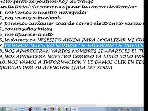 COMO RECUPERAR TU CORREO ELECTRÓNICO DE FACEBOOK (FACIL)