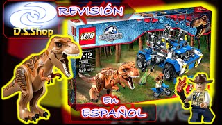 LEGO Jurassic World T. Rex Tracker Set 75918 Review en Español Dinosaurios