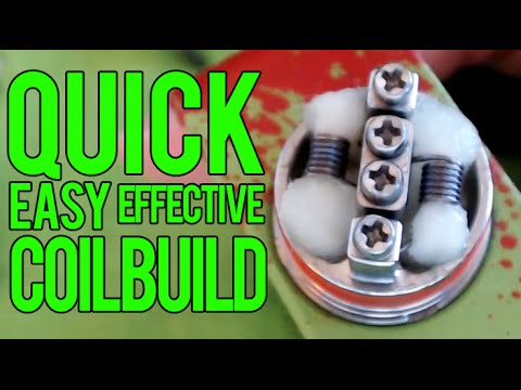 Quick and Effective coil build for RDA atomizers
