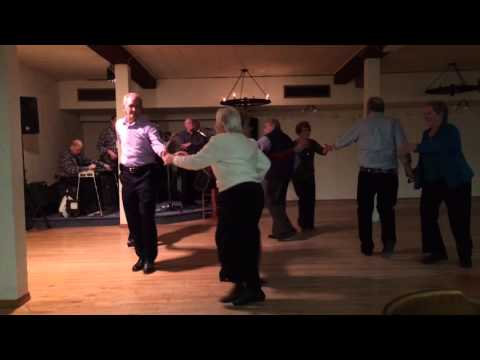 Square dance with fiddler, Ashley Giles