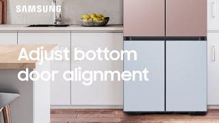 01. How to adjust the bottom edge door on your BESPOKE Refrigerator | Samsung US