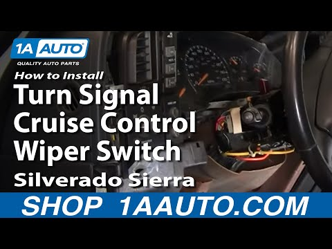 How To Install Replace Turn Signal Cruise Control Wiper Switch Silverado Sierra