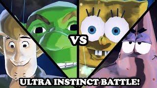 ULTRA INSTINCT! Shrek & Shaggy VS Spongebob & Patrick - Dragon Ball Xenoverse 2 Mods