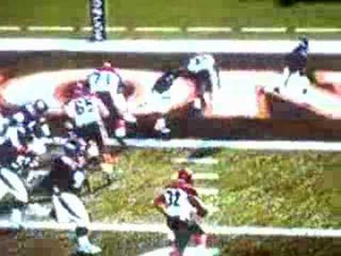 Champ Bailey AMAZING goal line stand MADDEN NFL 07' Video