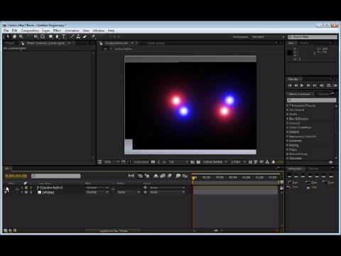 After Effects - police lights tutorial Video