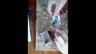 Как сделать бомбочку из фольги и спичек
