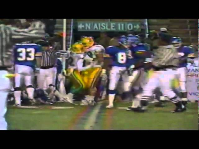 Oregon WR Terry Obee runs for reverse for a big gain vs. Tulsa 12-16-1989