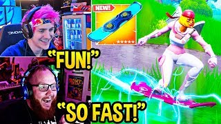 """STREAMERS USE *NEW* """"DRIFTBOARDS"""" (Hoverboard) ITEM in FORTNITE! - Fortnite FUNNY Moments"""