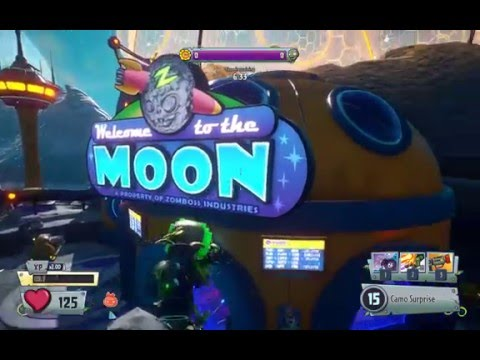 PvzGW2 - parkour locations: moon base first garden using rocket leap