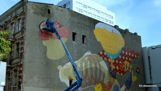 Os Gemeos brothers create a great work - Graffiti Lodz Poland