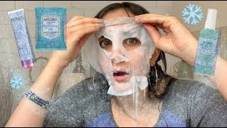 FULL FACE USNG FROZEN SKINCARE PRODUCTS CHALLENGE