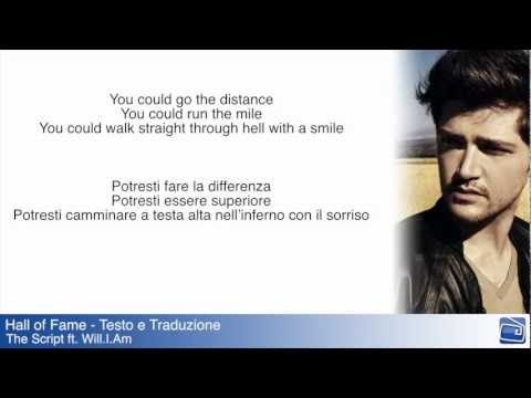 Hall of Fame The Script ft Will.I.Am Lyrics Testo e Traduzione